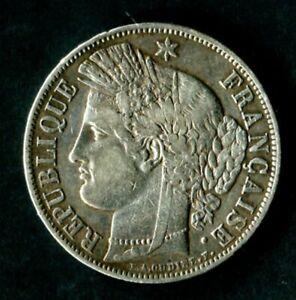 FRANCE BELLE CERES  5 FRANCS , ANNEE 1849 (A) ARGENT SILVER COIN