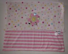 Taggies Flower Dot Pink Stripe Baby Blanket U2