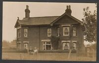 Postcard Ringwood nr Burley New Forest Hampshire house called Woodbury RP Brown