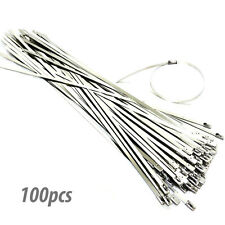"""100Ps 11.8"""" Stainless Steel Header Wrap Straps Self Locking Cable Zip Ties"""