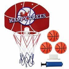 Happy Trees Slam Dunk Mini Basketball Hoop Set Toy Backboard For Door Bedroom Ba