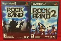 Rock Band 1 + 2  PS2 Playstation 2 Game Lot 1 Owner Complete Working !