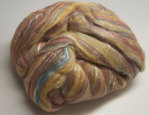 Ashland Bay Merino/ Silk Roving - 4 oz. - Gold, Green, Fawn, Wine