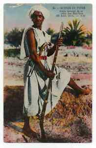 ARAB INSURGENT Bou Azid Tribe  BATTLE OF EL AMRI Algeria POSTCARD Tunisia AFRICA