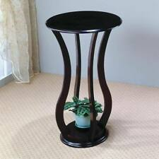Cherry Finish Accent Table / Plant Stand with Curvy Legs by Coaster 900934