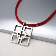 Religiöse Modeschmuck-Halsketten & -Anhänger aus Leder Kreuz