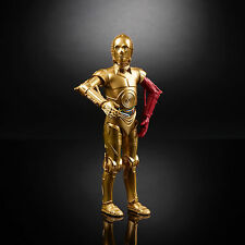 "HASBRO STAR WARS BLACK SERIES 6"" inch #29 C-3PO (Red Arm) Action figure in hand"