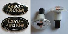 Range Rover Supercharged Tailgate Grille Black Emblem Badges / Side Markers Set