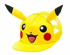 Pokemon Pikachu Face With Ears Trucker Snapback Baseball Cap One Size Yellow (