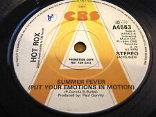 """HOT ROX - SUMMER FEVER (PUT YOUR EMOTIONS IN MOTION)  7"""" VINYL PROMO"""