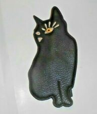 Large Marc by Marc Jacobs Winking Black Cat Zippered Coin Purse.Key Fob Ring