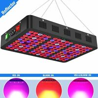 1500W LED Grow Light with Reflector, Daisy Chained Design Full Spectrum LED Plan