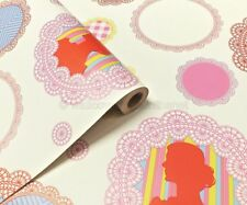 Funky / Retro, Multicoloured Picture Frames & Cameos, Designer  Wallpaper