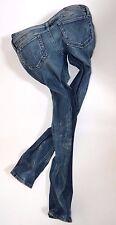 "DIESEL Ladies MATIC 008M9 stretch Low SKINNY JEANS womans W32 L32 size 14 32""leg"