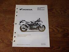 HONDA MOTORCYCLE ASSEMBLY & SET UP INSTRUCTIONS CBR 600 F4I 2003 MPD 9849 (0209)