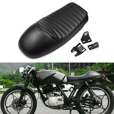 Full Black Hump Cafe Racer Seat Side Cushion For Honda CB Yamaha XS Suzuki XT600