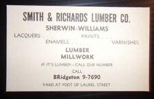 1955 Smith & Richards Lumber Co. Advertisement Bridgeton, NJ