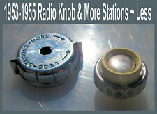 Corvette  1953 1954 1955 Radio Knob White Ivory One Only & More Stations Bezel