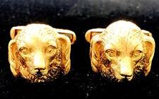 Dog Cufflinks Antique 18K Gold