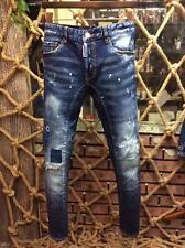 2017 New Men's DSQ2 patch zipper washing long jeans/Trousers Pants