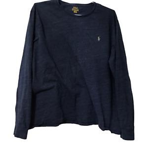 Polo Ralph Lauren Mens 2XL XXL T-Shirt Blue Crew Neck Long Sleeve Casual T-Shirt