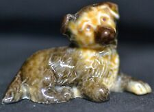 RARE WADE WHIMSIE SET 1 BROWN PUPPY LAYING DOWN BLACK AND GOLD LABEL