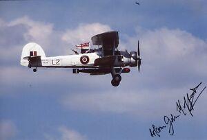 WW2 Ark Royal Swordfish pilot who torpedoed & damaged the Bismarck signed photo