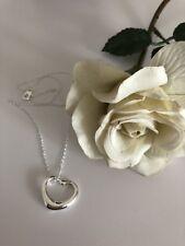 925 Sterling Silber Herzanhänger Offenes Herz Herzkette
