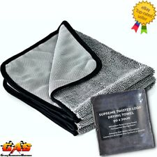 Supreme Twisted Loop Microfibre Car Drying Towel 90x70cm 610gsm Quick Dry Rapid