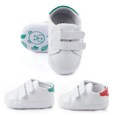 Newborn Baby Boys Girls Shoes Crib Bebe Sneakers Soft Sole White First Walker