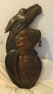 American Red Indian Wooden Wall Plaque Wall Art