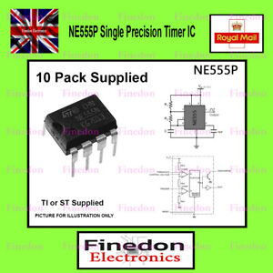 10 Qty NE555  BIPOLAR TIMER IC 8 Pin DIL DIP UK Seller
