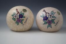ANTIQUE NIMY BELGIUM A.DUBOIS SET OF 2 LAMP BASES HAND PAINTED