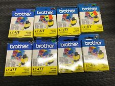8 X Brother LC41Y Yellow Ink Cartridge DCP-110C Genuine New  OEM Expired
