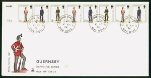 Mayfairstamps Guernsey FDC 1974 Royal Militia Uniform Combo First Day Cover wwp_
