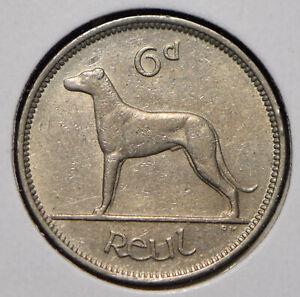 Ireland 1942 6 Pence Wolfhound animal  291721 combine shipping