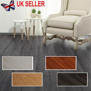 5 m² Floor Planks Tiles Grey Brown Oak Self Adhesive Wood Effect Vinyl Flooring