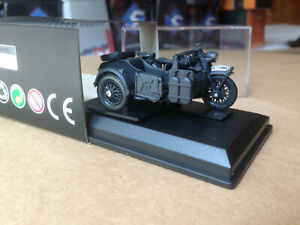 MOMACO / CARARAMA 1/43 MILITAIRE MOTO SIDE-CAR BMW R75 Wehrmacht WWII