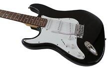 Left Handed Stratocaster Electric Guitar Full Size solid body alder wood Black