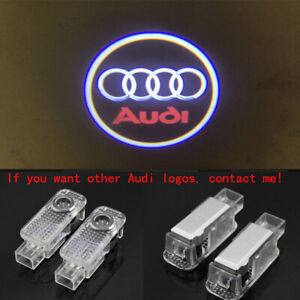 Audi 4X LED Light HD Logo Projector Emblem Ghost Shadow Door Welcome Lights