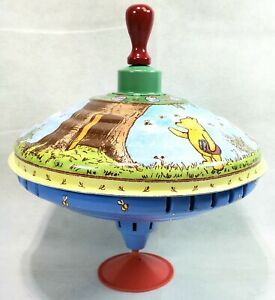 """""""Winnie the Pooh""""  Spinning Top Tin Toy By SCHYLLING"""