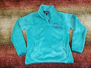 Patagonia Snap-T Women's Fleece Pullover Jacket Teal Size Large Green