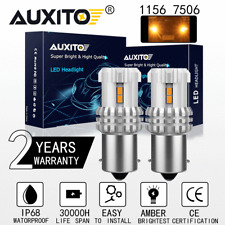 2x 7506 1156 BAU15S PY21W Amber Color LED Turn Signal Tail Brake Light Bulbs