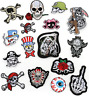 PIRATE SKULL Embroidered Biker Patches Skeleton Iron / Sew on Badges Grim Reaper