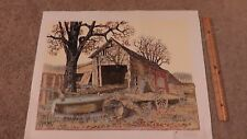 Hargrove Country Barn Wagon Genuine Lithograph Canvas Print Artistic Impressions