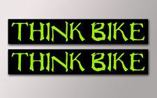 2 pensar Bicicleta pegatinas V011 Monster Estilo