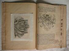 Prétentions du duc de Lorraine sur le duché d.Anjou. Généalogie Dauvet. 1650