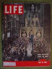 LIFE MAGAZINE MAY 16 1960 PRINCESS MARGARET WEDDING THE ABBEY REAL LIFE CROWN