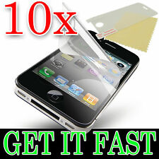 10 X CRYSTAL CLEAR LCD SCREEN PROTECTOR COVER GUARD FOR APPLE iPHONE 4 4S