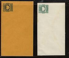Peru 2 postal envelopes unused 2 and 5 centos Ms0308